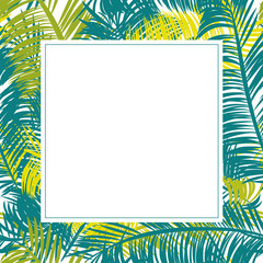 Square frame of palm leaves