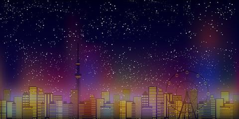 東京 ビル 風景 背景