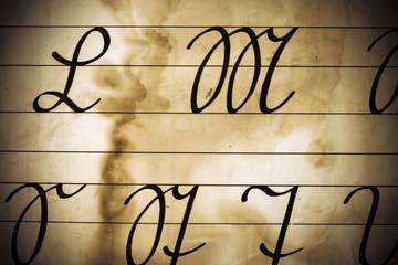 Vintage Latin Alphabet Background