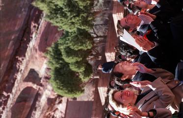 CHINA PREMIER AND DIGNITARIES AT RED ROCKS PERFORMANCE.