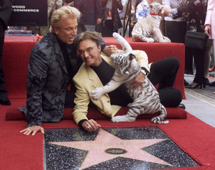 SIEGFRIED AND ROY HONORED WITH STAR ON HOLLYWOOD WALK OF FAME.