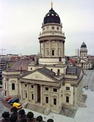 Berlin's famous German dome is seen in this general view at the Gendarmenmarkt (gendarme market) fol..