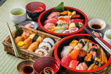 本格握り寿司  Japanese gourmet genuine finger sushi