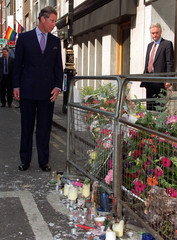 THE PRINCE OF WALES VISITS SOHO BOMB SCENE IN LONDON.