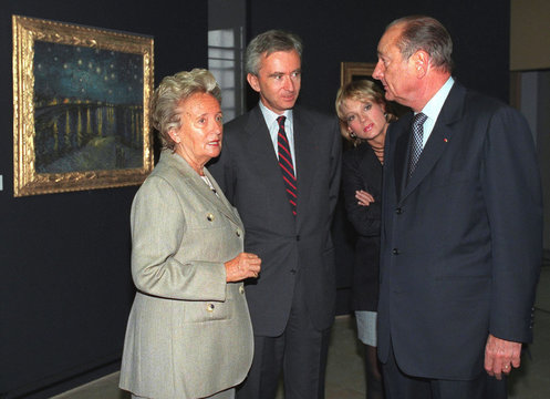 FRENCH PRESIDENT JACQUES CHIRAC VISITS VAN GOGH EXHIBITION.