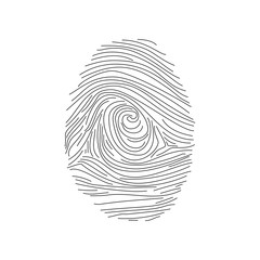 Set of fingerprints icons, id security identity illustration