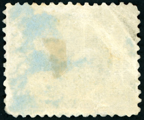 Old blank postage stamp