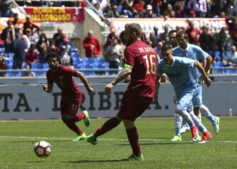 Football Soccer - AS Roma v Lazio - Italian Serie A