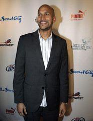 Actor Michael-Key arrives for celebrations marking the 50th anniversary of improv theater, the Second City, in Chicago