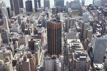 View at Manhattan midtown from Rockefeller Center