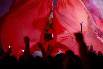 Shakira performs at the MTV Latin America awards in Mexico City