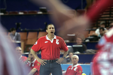 Russia's coach David Blatt reacts during their FIBA Eurobasket 2009 5th place basketball game with Turkey in Katowice