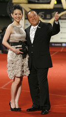 Actor Eric Tsang and his daughter Bowie Tsang arrive for the 45th Golden Horse Awards in Taichung