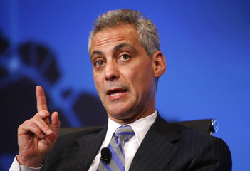 Rahm Emanuel speaks at the Wall Street Journal CEO Council in Washington