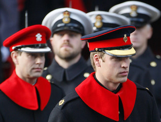 Britain's Prince William and Prince Edward attend annual Remembrance Sunday ceremony at Cenotaph in London