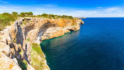 Beautiful coastline landscape of Majorca island, Spain Mediterranean Sea