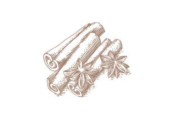 Cinnamon's sticks and star anise