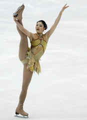 Shoko Ishikawa of Japan performs during Women's Short Program competition at the ISU Grand Prix of Figure Skating NHK Trophy in Nagano