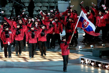SLOVAKIAN OLYMPIC DURING OPENING CEREMONY IN SALT LAKE CITY.