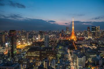 Tokyo Tower and Tokyo city , Tokyo, Japan