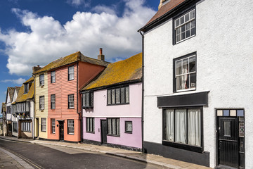 Hastings street in the county of Sussex in England