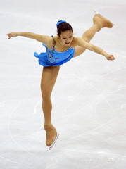 Gracielle Jeanne Tan of the Philippines performs at the 2009 ISU World Figure Skating Championships in Los Angeles