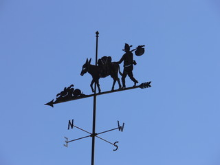 Wind vane of mule and prospector