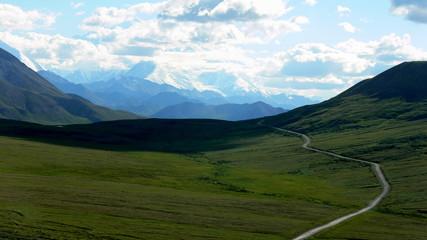 Alaska wilderness lone road to Denali