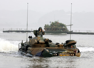 South Korean marines conduct landing operation exercise in Kimpo