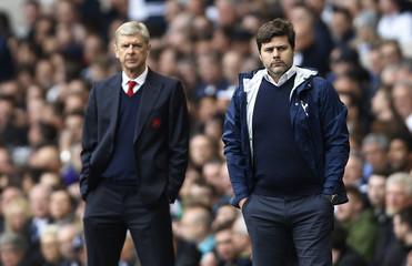 Arsenal manager Arsene Wenger and Tottenham manager Mauricio Pochettino