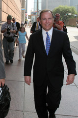 Former Enron Chief Executive Jeffrey Skilling leaves Federal court in Houston
