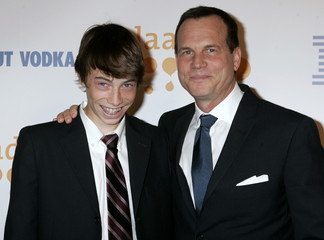 Actor Bill Paxton and son arrive at the 20th GLAAD Media Awards in Los Angeles