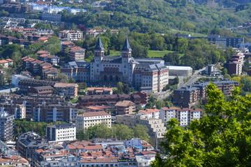 Seminary of San Sebastian from Monte Igueldo