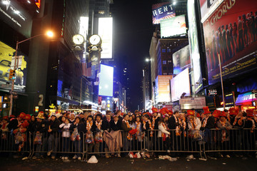 Revelers pack Times Square to participate in New Year's Eve celebrations in New York