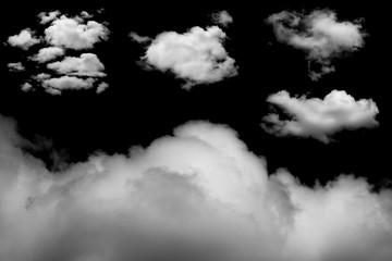 Spoed Fotobehang Hemel White cloud on black background