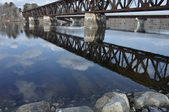 Railroad Bridge over the Androscoggin