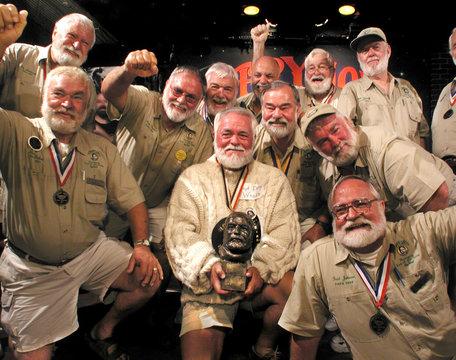 ERNEST HEMINGWAY LOOK ALIKE CONTESTANTS IN KEY WEST FLORIDA.