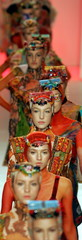 Models parade on the catwalk during the end of Lino Villaventura's Spring/Summer 2006 collection sho..