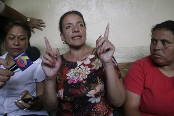 Wife of Honduras' ousted President Manuel Zelaya speaks to the foreign media  during a news conference at El Paraiso town