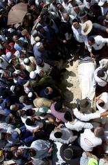 MOURNERS ATTEND FUNERAL OF SLAIN SETTLER DAVID COHEN IN JERUSALEM.