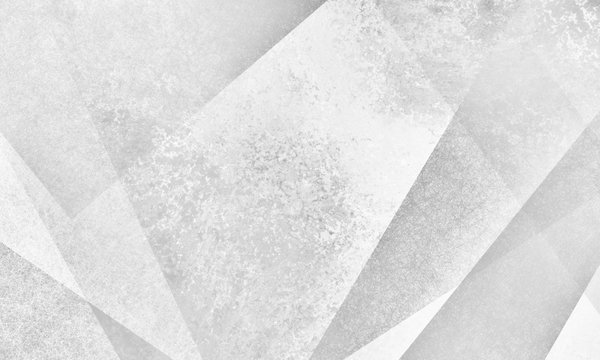 faded abstract white geometric background design with triangles angles and lines in layered grunge textured modern style