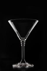 Glass on a black background