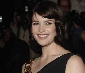 "Actress Arterton poses at the world premiere of ""St Trinians"" in London"