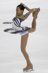 Japan's figure skater Asada performs during the ladies free skating at the ISU Grand Prix of Figure Skating final in Turin