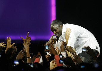 Senegalese-American Akon performs at the 2009 MAMA at the Moi International Sports Centre-Kasarani in Kenya's capital Nairobi