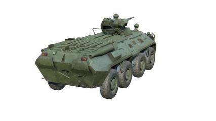 Wall Mural - Russian APC BTR-80A Rotating. 3Drender