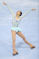 Mao Asada of Japan performs during the Ladies Short Program in the Bompard Trophy event at Bercy in Paris