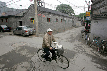 A resident cycles in Beijing