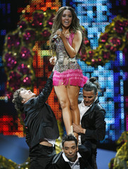 Kalomira of Greece performs during rehearsals for the Eurovision Song Contest in Belgrade
