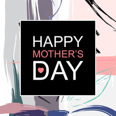 Happy Mother's Day greeting card, background or poster for typographic design.